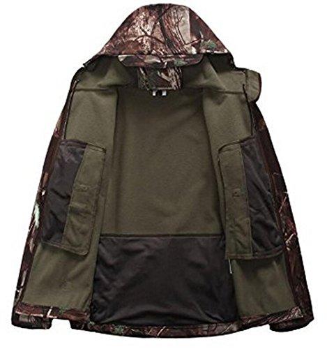 Herren Jacke Softshelljacke Windbreaker Wetterschutzjacke Funktionsjacke mit Outdoorjacke Kapuze Winterjacke Regenjacke groß Baum