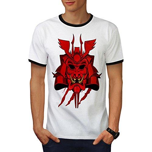 japanisch Oni Maske Fantasie Japan Stil Herren M Ringer T-shirt   Wellcoda (Japanische Wolf Maske)