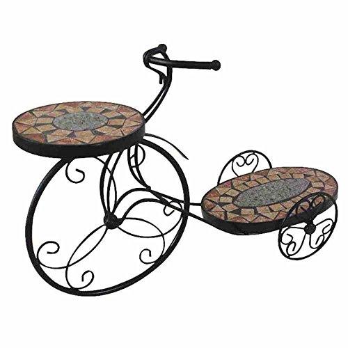 Siena Garden Blumenständer Fahrrad Prato, 58x19x38cm, Mosaikoptik, 411783