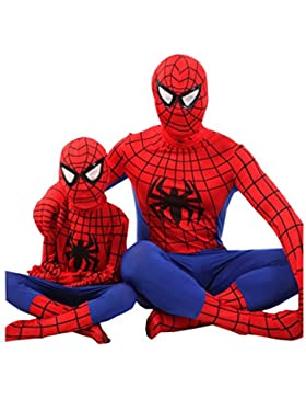 Nihiug Abbigliamento Per Bambini Di Halloween Cosplay Performance Service Ragazzo Spider-man Kid Make-up Dance...