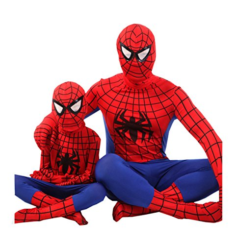 der Kleidung Cosplay Performance Service Junge Spider-Man Kid Make-up Tanz Humor Kürbis Subdue Temptation Secret,RedPlusBlue-180cm (Witch Mädchen Halloween-make-up)