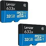 [2 Pack] Lexar microSDHC UHS-I 633X 32GB...