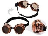 Alsino Steampunk Brille Schweißerbrille Sonnenbrille Viktorianischer Stil rund Herren Cyber-Brille
