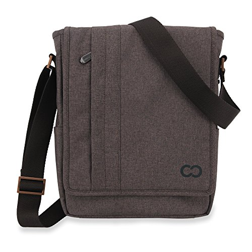 Campus Messenger (Apple iPad Air / iPad Air 2 Case, CaseCrown Campus North Messenger Bag (Charcoal Brown))