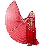 Ägyptisches Bauchtanz-Kostüm in Flügel-Design für Mädchen Gr. Einheitsgröße, rot