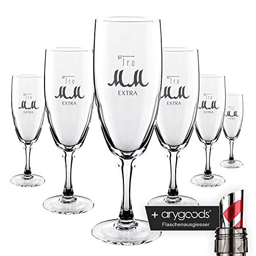 6 x Mumm Champagne verre/verres très inoxydable Gastro Bar Décoration