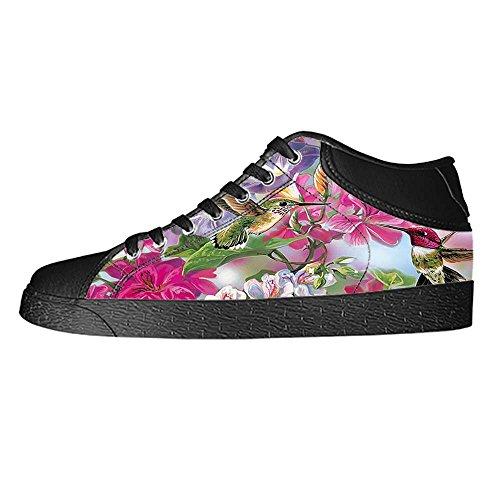Dalliy Hummingbird And Flower Men's Canvas shoes Schuhe Lace-up High-top Sneakers Segeltuchschuhe Leinwand-Schuh-Turnschuhe D