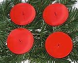4´er Set EDEL Advent Kerzenhalter / Teller ROT 7,5 cm zum verarbeiten Weihnachtsdeko / für Adventskränze Adventskranz Adventskranzkerzenstecker Advenskerzenhalter 3436