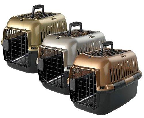 Transportbox Transportkäfig Tragebox für kleine Hunde und große Katzen 57x38x38cm, sortiert