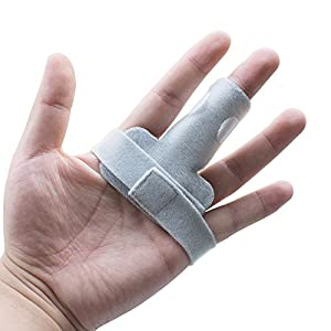Risingmed Adjustable Trigger Finger Splint Support Brace With Innovative Foam Straightening Curved/Bent/ Locked and Stenosing Tenosynovitis Hands /Tendon Release and Pain Relief?Grey )