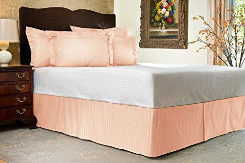 Comfort Beddings 600TC 2PC Pillow Sham Euro King Ikea size 100% cotone egiziano a righe, Peach, Euro KingIKEA