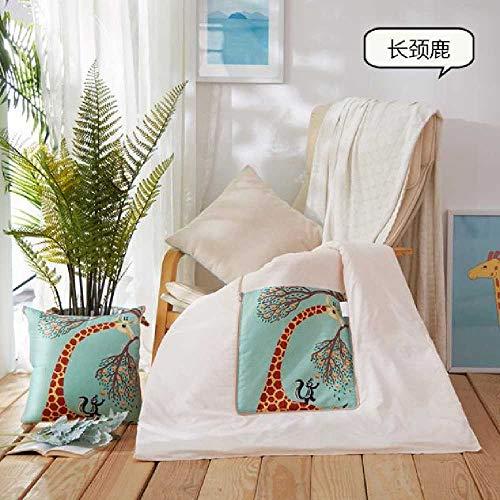 GZHZH Multi-funktionale Kissen Quilt Dual-Use Büro Auto Sofa Druck Kissen Von Nicken Klimaanlage Ist Kissen Gehalten 50 x 50 Erweitern 150 x 200 / Giraffe