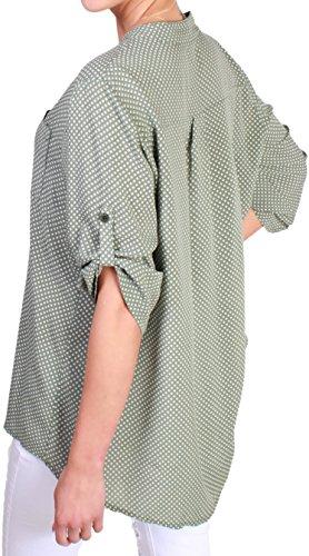 Unbekannt - Chemisier - À Pois - Femme Vert