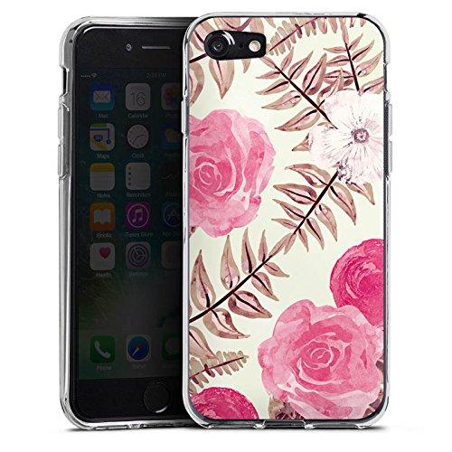 Apple iPhone X Silikon Hülle Case Schutzhülle Flower Frühling Vintage Silikon Case transparent