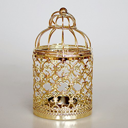 Vi.yo candelabro portacandele modello creativo birdcage portacandelari in metallo vuoto per decorazione da tavolo in metallo a forma di gabbia in stile casa di natale 1