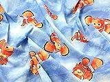 Findet Nemo Print Baumwolle Disney Stoff, blau, Meterware +