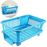 #6: GTC Large Sink Set Dish Rack Drainer - Blue (IT N - 167-1 )