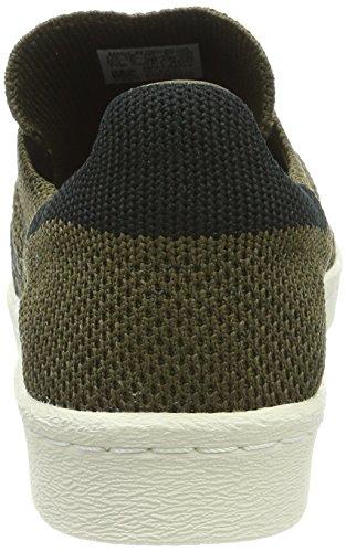 adidas Superstar 80s Primeknit, Scarpe da Ginnastica Basse Unisex – Adulto Verde (Trace Olive/core Black/trace Cargo)