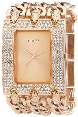 Guess Ladies Trend W0085L3 de cuarzo para mujer, correa de acero inoxidable color oro rosa