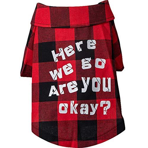 GJJ Pet Kleidung, Haustierhemd Plaid Hemd, Sommer- und Herbstmodelle, Welpe, Kleiner Hund, Briefherbststrickjacke, Sommerinnenreisehundekleidung - Null Hunde Kostüm