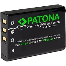 Patona PREMIUM Akku fuer Fujifilm NP-95 (echte 1800mAh) zu Fujifilm Finepix X30 X70 X-S1 X100s X100 X100T F30 F31 usw (100% kompatibel)
