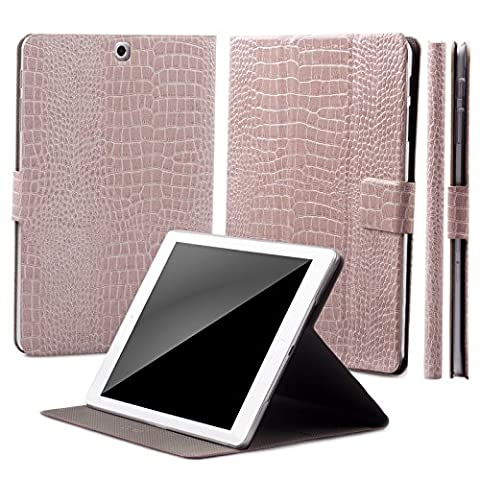 Samsung Galaxy Tab S2 8.0 Housse | 360° Support | Caiman champagne | iCues Manzano Étui | autre similicuir - et des variantes de couleur disponible | Coque avec le box de cadeau