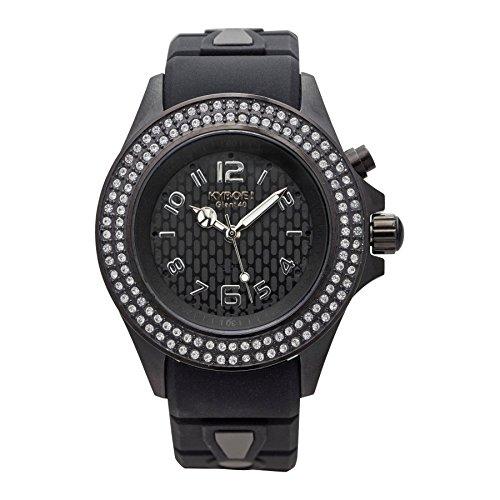 Kyboe. Reloj Analógico para Mujer Quartz goma negro SW de 005–40