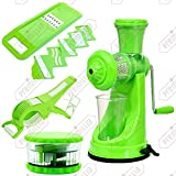 [Sponsored]Premillia® Premium Plastic Kitchen Tools Combo : Fruit Juicer + 6 In 1 Slicer + Vegetable Cutter & Peeler + Multi Crusher (Set Of 4 Items - ALL Green)