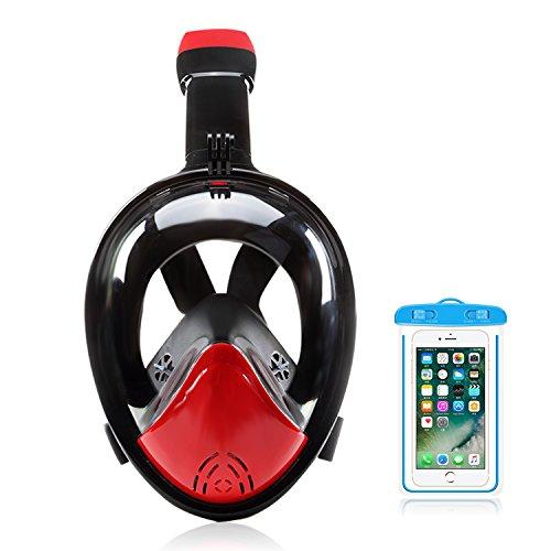 Lasilia Máscara de Snorkel de Cara Completa DM100 Mascara Buceo 180 Grados de Vision Anti Fugas Niebla en Superficie Easybreath para Adultos y Niño