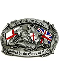 Angleterre Boucle de Ceinture - British by Birth, English by the Grace of  God - f0409634c9a