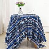 ONECHANCE 1 Meter Baumwolle Leinen Naturstoff Nähen DIY Stoff für Handwerk & Dekoration 100x150cm Farbe Retro Größe 2 Meter
