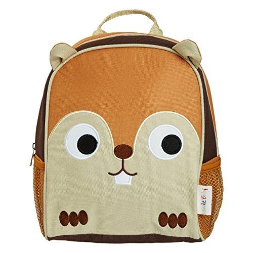 smileBaby Kinder Rucksack für den Kindergarten und Freizeit brauner Hamster (Hamster Grüne)