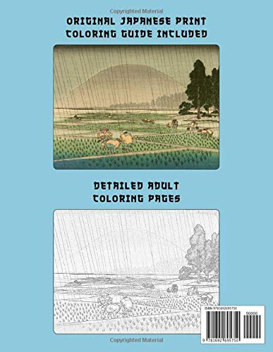 Zoom IMG-1 japanese landscapes nature coloring book