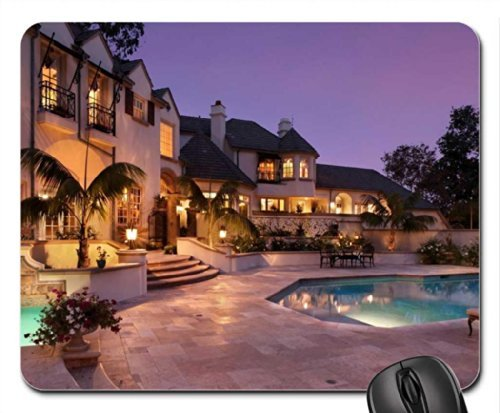 Beautiful Mansion Mouse Pad, Mousepad (Houses Mouse Pad) Dog House Mansion