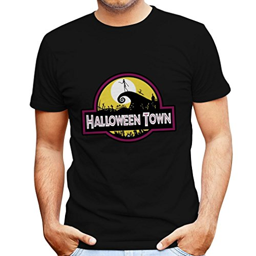 Halloween Town Nightmare Before Christmas Park Men's T-Shirt (Christmas Nightmare Halloweentown Before)