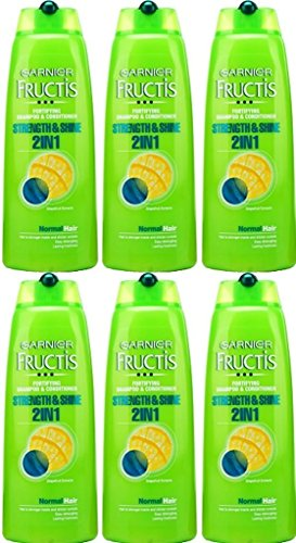 SIX BOTTLES of Garnier Fructis 2in1 Normal Shampoo 250ml