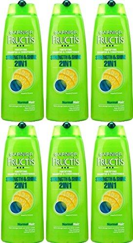 SIX BOTTLES of Garnier Fructis 2in1 Normal Shampoo 250ml