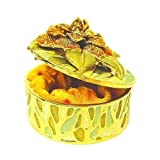 Yellow Peony Flower Box Swarovski Crystals Jewelry, Trinket or Pill ...