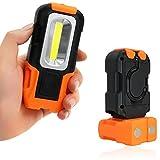 OFKPO Lampe de Torche LED Lampe Baladeuse a 3W COB LED Batterie, Lampe de Travail, Lampe de Poche, Torche,Lampe d´atelier