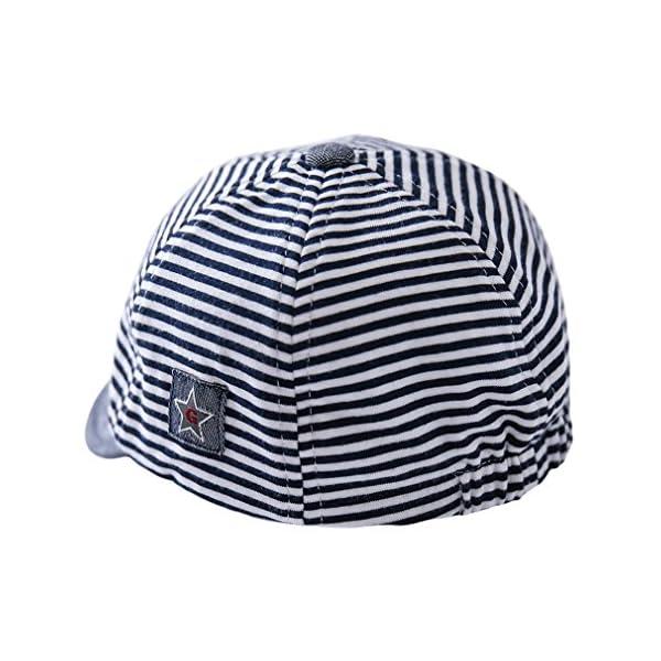 Cloud Kids - Sombrero para bebé o niña, protección contra el sol, diseño de rayas, estrellas, verano y sol 5