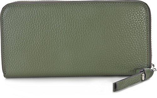 GEORGE GINA & LUCY, Damen Geldbörsen, Börsen, Brieftaschen, Portemonnaies, Leder, Grün, 19,5 x 10 x 3 cm (B x H x T) (Absolut Lucy 3)