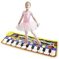 Magicfun Alfombra para Piano, Alfombra de Teclado Táctil Musical Teclado de Piano & Juego Portátil