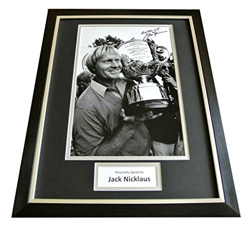 Sportagraphs JACK NICKLAUS HAND SIGNED & FRAMED AUTOGRAPH PHOTO DISPLAY GOLF OPEN GIFT & COA