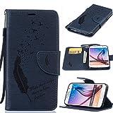 für Samsung Galaxy S6, Yokata Lederhülle Leder Tasche