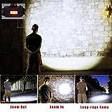 Luce Frontale LED, lampada Frontale ricaricabile USB,Cobiz 4 modalità 10000 Lumen Torcia Flashlight Lampada Testa Running, Headlight con cinghia regolabile,LED Headlamp per Speleologia Sport Esterno