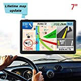 Sat Navs for Car/Truck/Motorhome,7-inch GPS Navigation System with Built-in 8GB&256MB 2019 Latest UK+EU