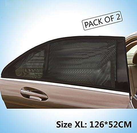 Auto Sonnenschutz Shades, Fenster Schatten Block XL Keine. SUV Car Universal Vorhang Schuh Fenster Seite-Fenster Air Durchlässigkeit Outdoor