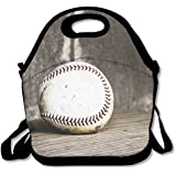 Neoprene Lunch Tote - Baseball Wallpaper Waterproof Reusable Cooler Bag For Men Women Adults Kids Toddler Nurses With Adjustable Shoulder Strap - Best Travel Bag