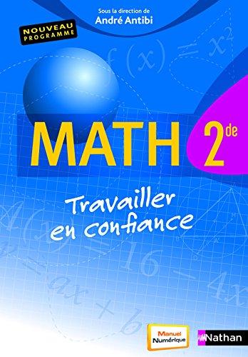 Math 2de - Travailler en confiance