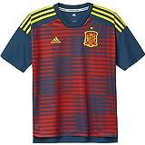 adidas Kinder Spanien Heim Pre-Match Shirt, Red/Triblu, 140